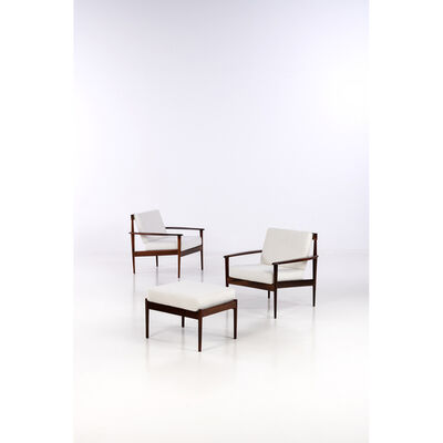 Rino Levi, 'Pair of armchairs and an ottoman', circa 1965