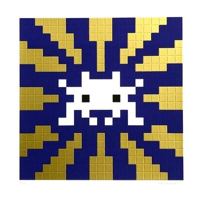 Invader, 'Sunset gold and blue', 2018