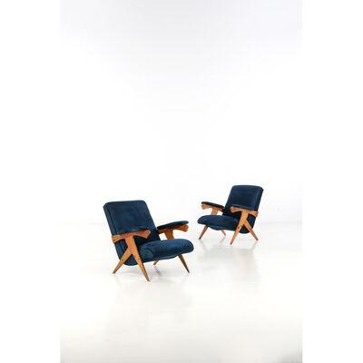 José Zanine Caldas, 'Cuca, Pair of armchairs', 1950s
