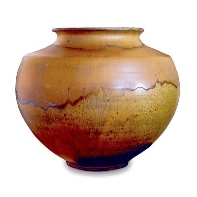 Kähler, 'Large Jar Vase with Flowing Earthy Glazing', 1950