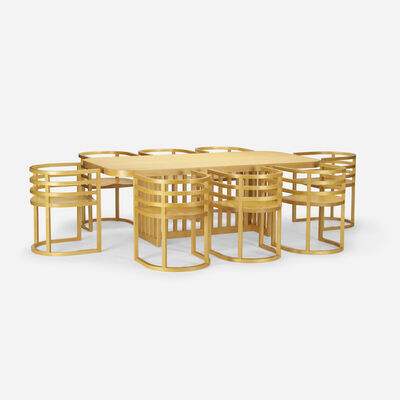 Richard Meier, 'dining table and set of eight chairs', 1982