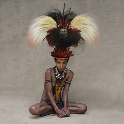 Fred Stichnoth, 'Young Woman with Feather Headpiece, New Guinea', 2017
