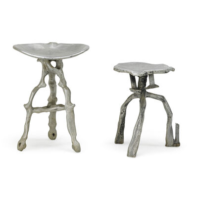 Denis Wagner, 'Two sculptural stools', 1970s