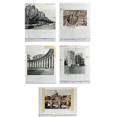 Christo and Jeanne-Claude, 'Five Urban Projects Portfolio', 1985