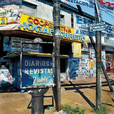 Marcos López, 'Esquina azul- Provincia de Buenos Aires', 2003