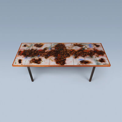 Johannes Aasbjerg Andersen, 'Unique colourful coffee table with tiles', 1965