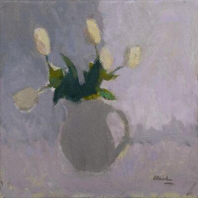 Michael Clark PAI RSW, 'White Tulips', 2018