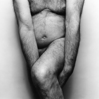 John Coplans, 'Two Arms Holding Leg', 1986