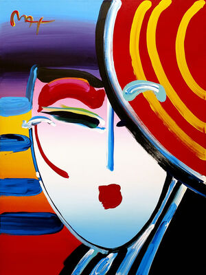 Peter Max, 'DECO LADY VER IV #11', 2002
