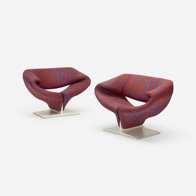Pierre Paulin (1927-2009), 'Ribbon chairs, pair', 1965