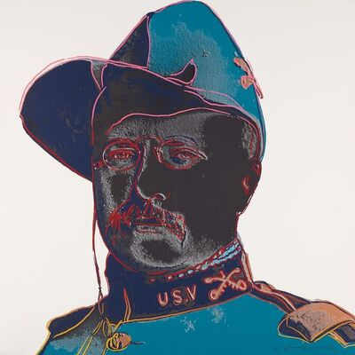 "Andy Warhol, 'Teddy Roosevelt, from ""Cowboys and Indians""', 1986"