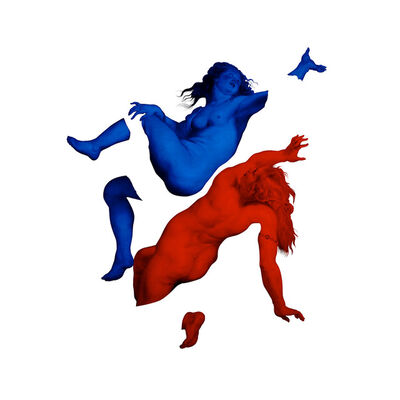 Magnus Gjoen, 'Happy Nations Have No History Red/Blue', 2018