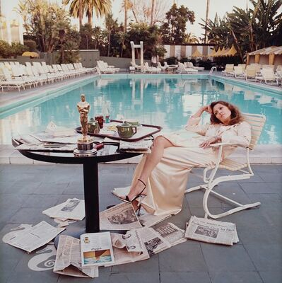 Terry O'Neill, 'Faye Dunaway at the Beverly Hills Hotel (co-signed)', 1977