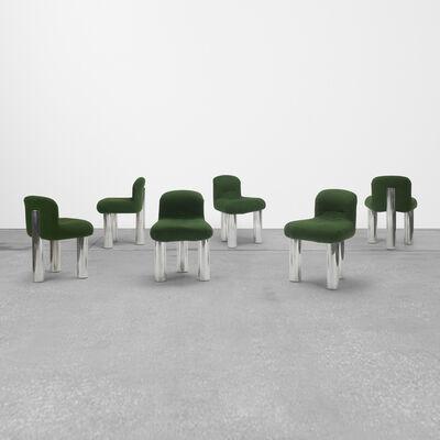 Cini Boeri, 'Botolo Rolling Chairs, Set of Six', 1973