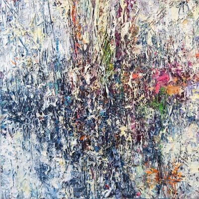 Adam Cohen, 'Opalescence - colourful, impasto, abstract expressionist, acrylic on canvas', 2020