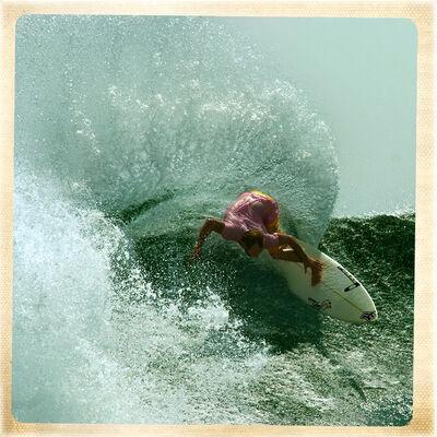 Guillermo Cervera, 'Erneo Acero surfing in Krui Sumatra, Indonesia.'