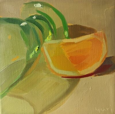 Yuri Tayshete, 'Orange and a Green Glass', 2020