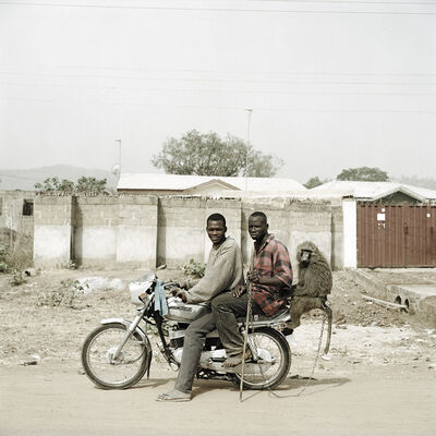 Pieter Hugo, 'Nura Garuba and friend with their monkey, Abuja, Nigeria', 2005