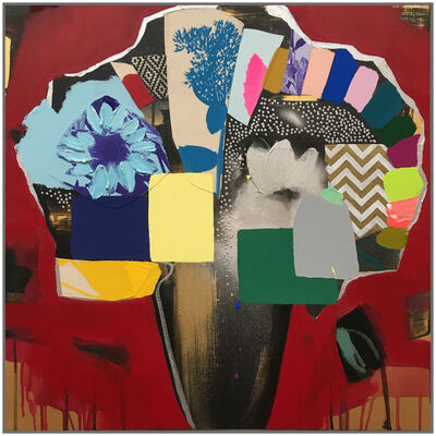 Emily Filler, 'Vase of Flowers (candy apple red)', 2018