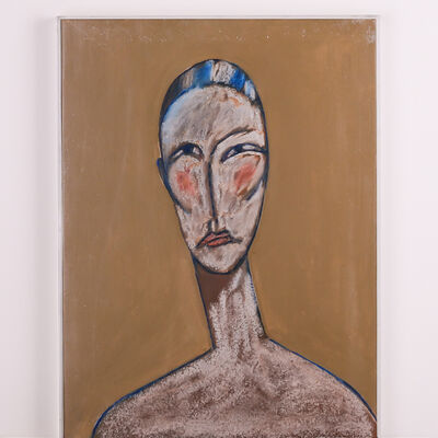 Jack Hooper, 'Woman with Blue and White Head Covering', 2008