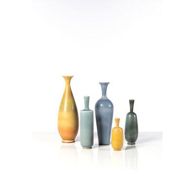 Berndt Friberg, 'Set of five vases', 1950