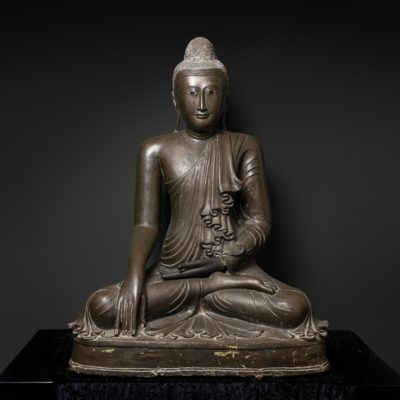 Unknown Asian, '	Bronze seated Buddha', 1700-1800