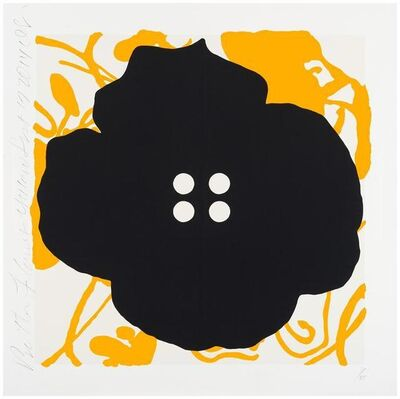 Donald Sultan, 'Button Flowers Yellow, Sept 17, 2014', 2014