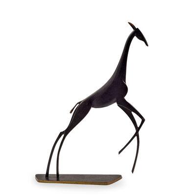 Hagenauer, 'Werstatte Hagenauer Wien Giraffe Brass Patinated ca. 1940 Art Deco Design', ca. 1940