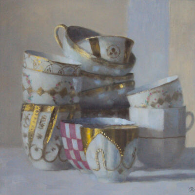 Olga Antonova, 'Cups with red checkered bowl', 2017