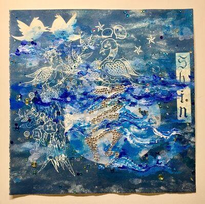 Jiha Moon, 'Letter Shin Blue', 2017