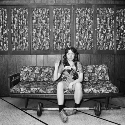 Meryl Meisler, 'Self-Portrait, The Girl Scout Oath, North Massapequa, NY', January 1975
