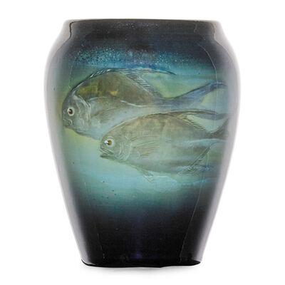 Edward T. Hurley, 'Iris Glaze vase with permit fish (uncrazed), Cincinnati, OH', 1906
