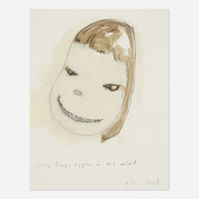 Yoshitomo Nara, 'Only Faces Appear in My Mind', 2001