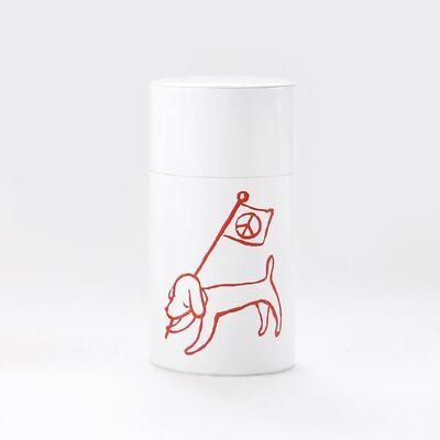 Yoshitomo Nara, 'Peace Flag Dog Canister', 2020