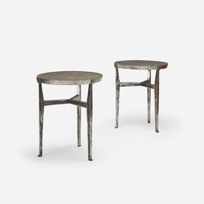 Jacques Quinet, 'occasional tables, pair', 1950
