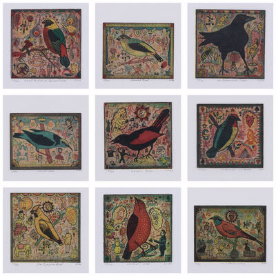 Tony Fitzpatrick, 'Set of nine lithographs in four numbered colours'