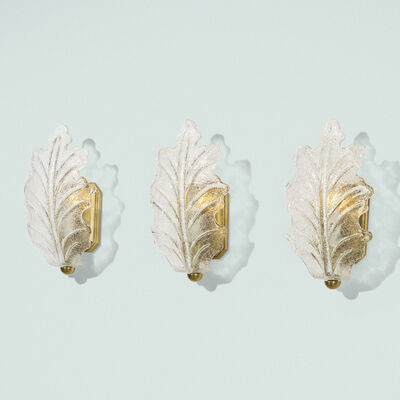Murano, 'Sconces, set of three', c. 1950