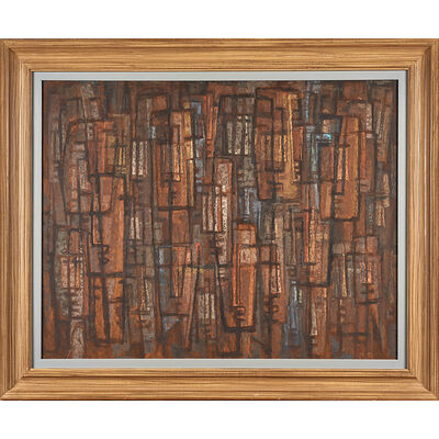Frederic Weinberg, 'Untitled Painting (Abstract Faces) (Framed), Philadelphia, PA'