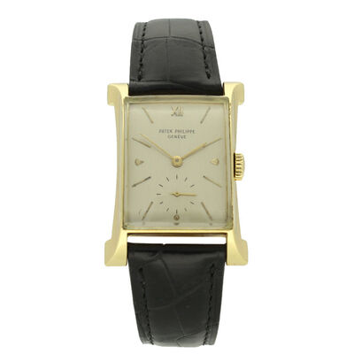 Patek Philippe, '18ct yellow gold 'Eiffel Tower' wristwatch Ref: 2441.', 1949