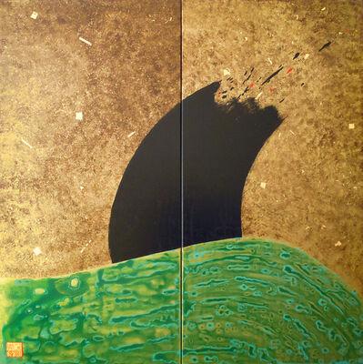 Uli Weigelt, 'The Wave II- Diptychon', 2012