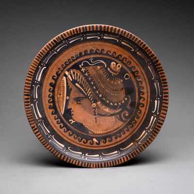 South Italy, Apulia, 4th century BC, 'Apulian Red-Figure Raised Plate', 400 BC to 300 BC