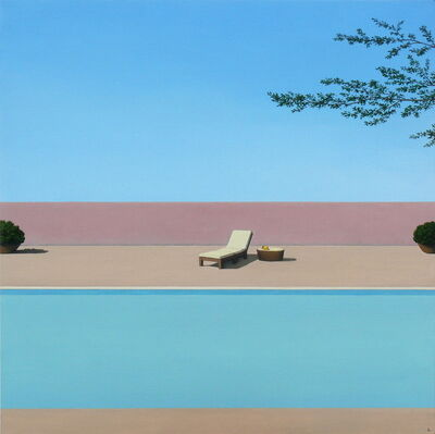 Magdalena Laskowska, 'Pool with a pear - landscape painting', 2020