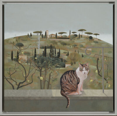 Tom Mabon, 'Hillside and Cat at Fiesole', 2020