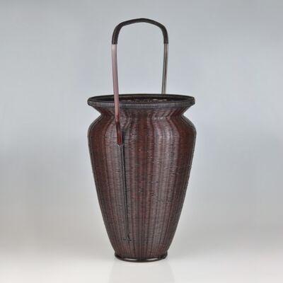 Tanabe Chikuunsai II, 'Bamboo Flower Basket in Chinese Style', Shōwa period (1926-1989)