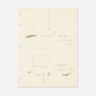 Ellsworth Kelly, 'Untitled (Studies for Curve I and II)', c. 1970