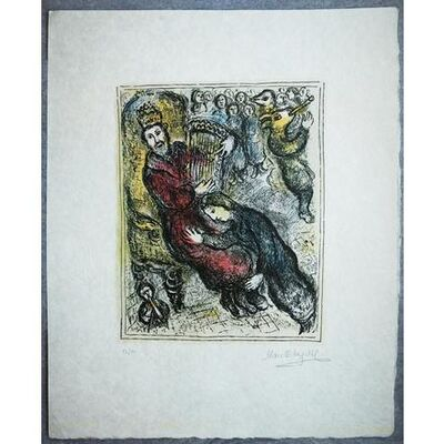 Marc Chagall, 'King David with his Lyre (M. 935)', 1979