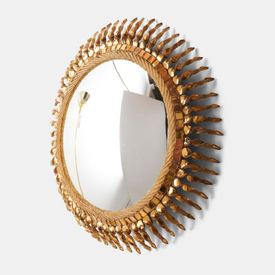 "Line Vautrin, 'Large ""Twisted Sun"" Mirror by Line Vautrin', 1955-1965"