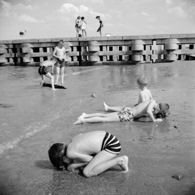 Vivian Maier, '0119304, 1963 Kids Digging for Clams', 2014