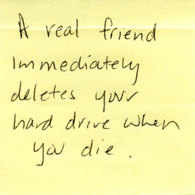Tanja Hollander, 'What is a real friend? (the post-it note project)', 2012-2016