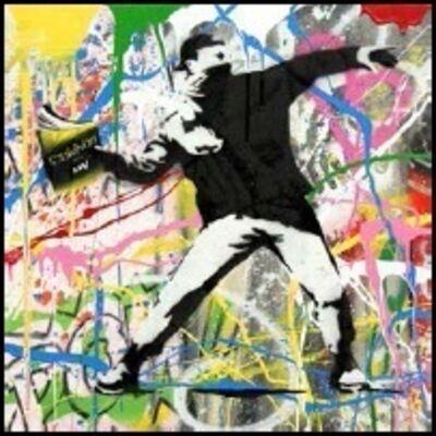 Mr. Brainwash, 'Banksy Thrower (3) ', 2015